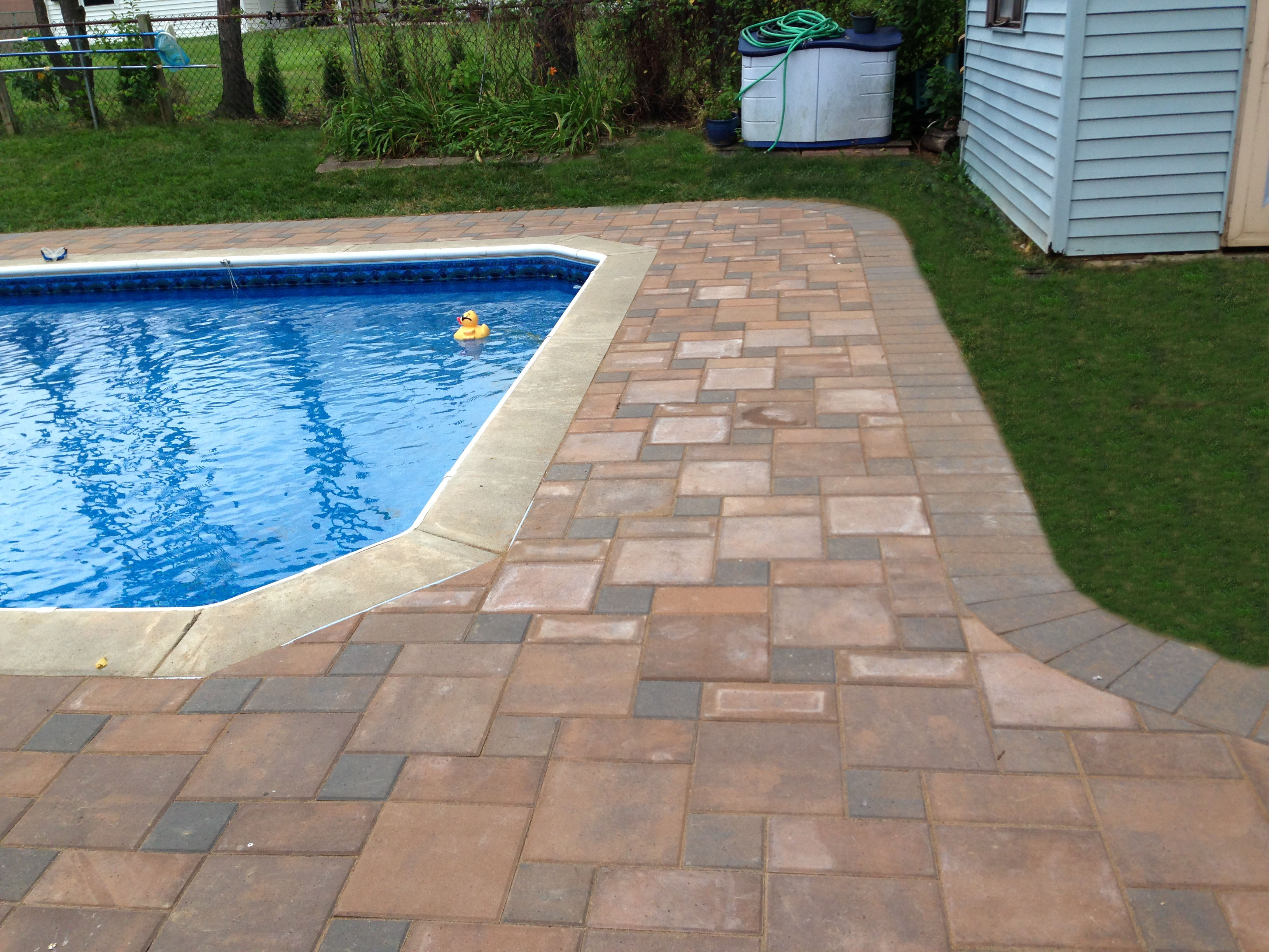 Pavers pool deck and steps philadelphia pa recent for Best pavers for pool deck